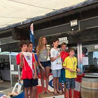 photo Ambre et Alexandre Champions de Gironde d'école de sport en catamaran